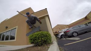 Brad - Kickflip Over Bush - Bandera Ditch 1.jpg
