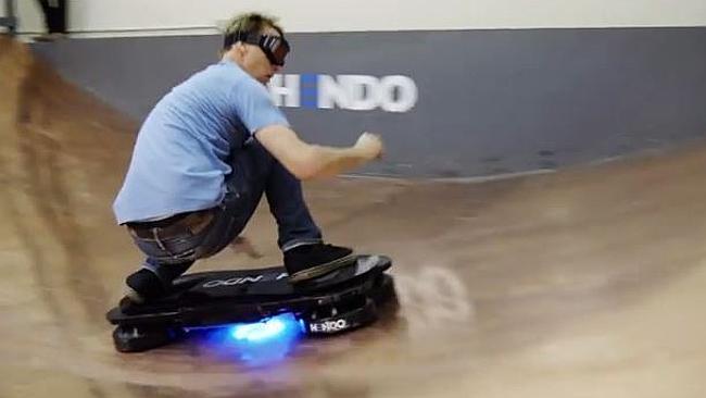 Tony Hawk Rides a Hoverboard
