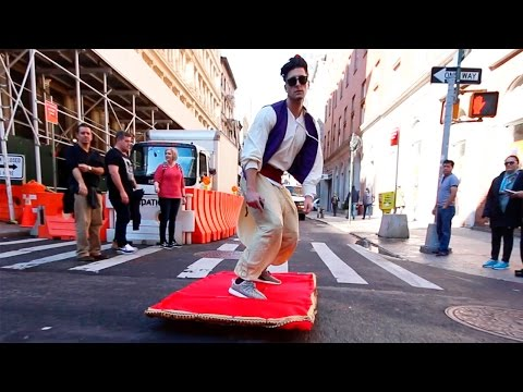 Aladdin Goes on Magic Carpet Ride Through NYC [VIDEO]